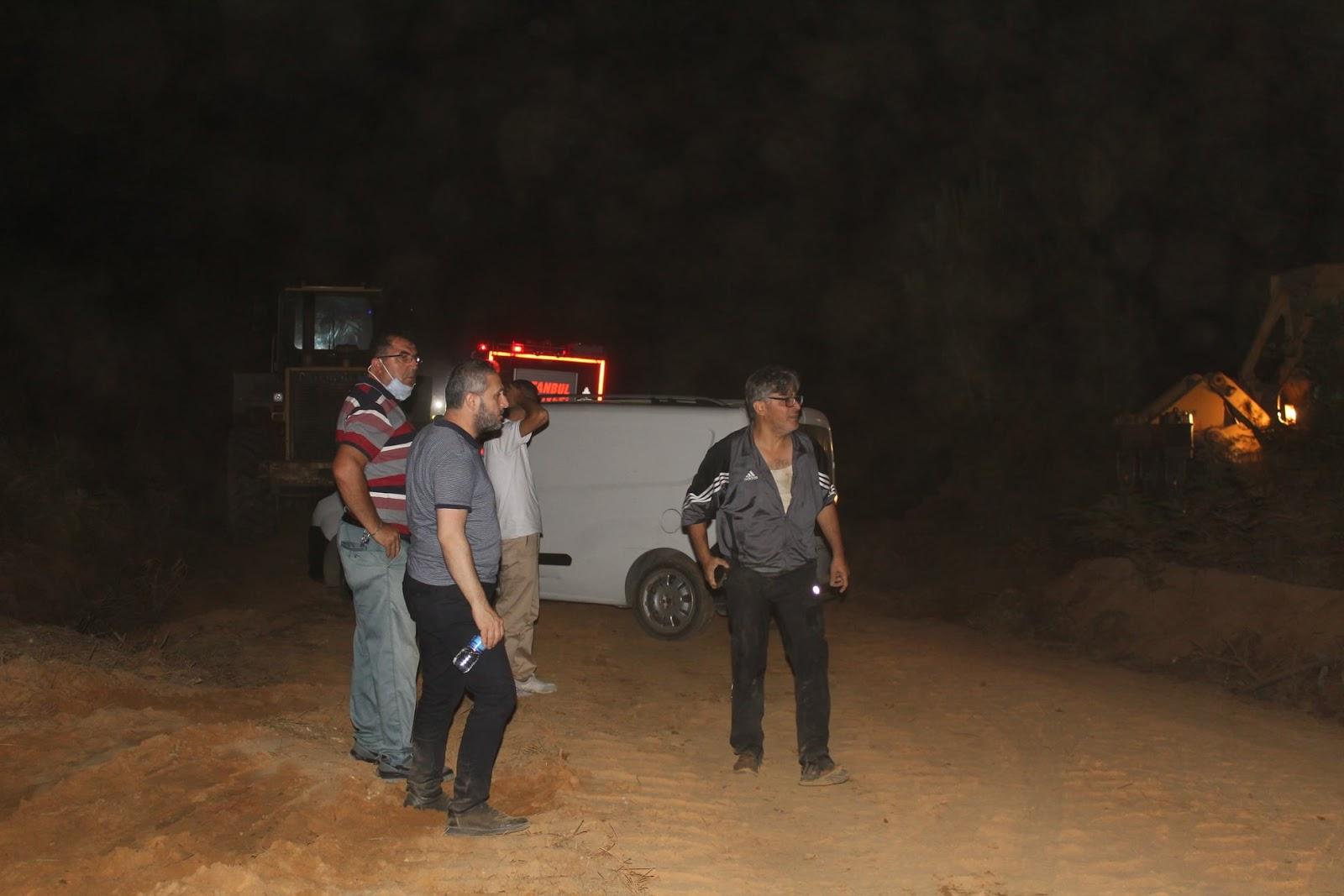 Şile, Sofular Mahallesinde Orman Yangını