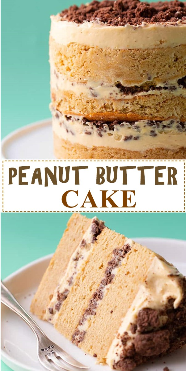 PEANUT BUTTER CAKE #cakerecipes