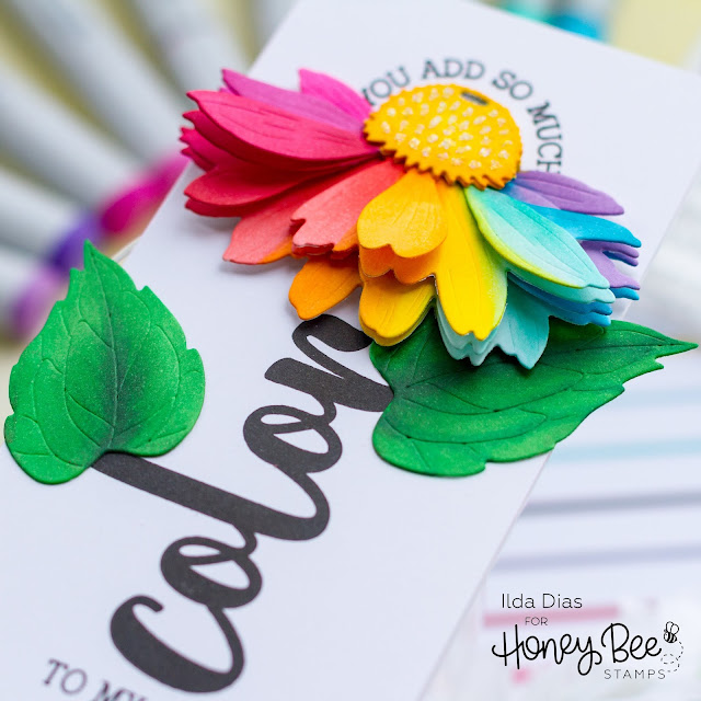 Color Stamp Set, Rainbow, Coneflower, Mini Slimline, Card,Honey Bee Stamps, Summer Stems, Sneak Peek,Pride, Card Making, Stamping, Die Cutting, handmade card, ilovedoingallthingscrafty, Stamps, how to,
