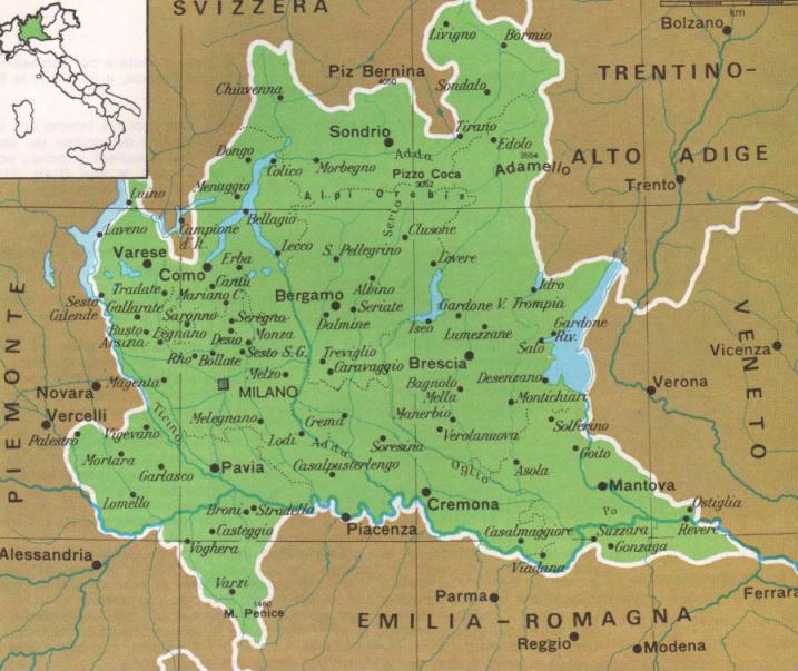 Cartina Lombardia Da Colorare.La Lombardia