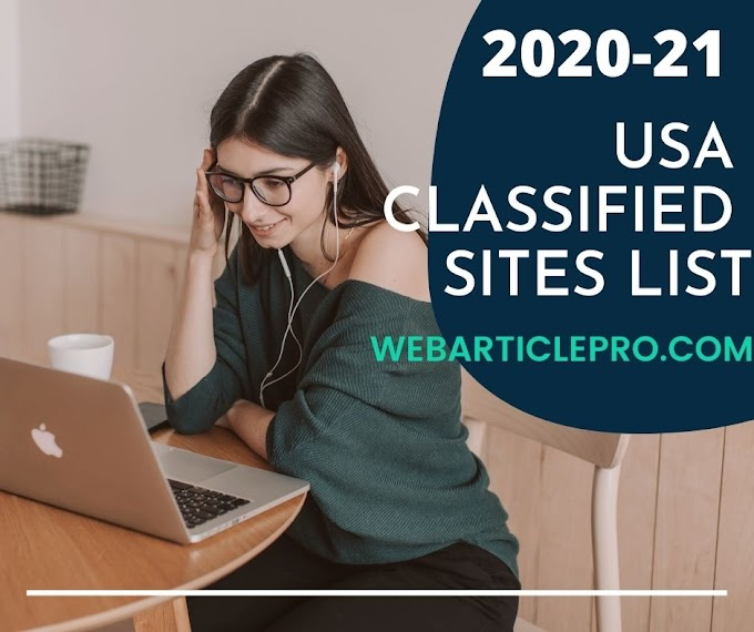 Free USA Classified Submission Sites List 2020-21