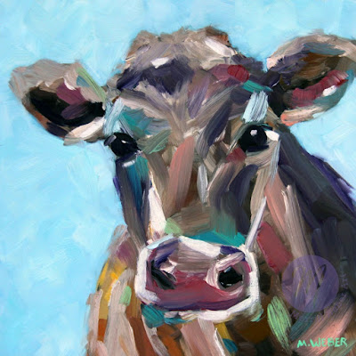 opal-the-cow-oil-painting-by-merrill-weber