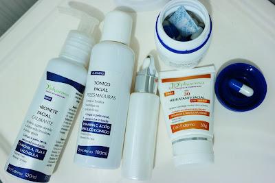 rotina de cuidados com a pele, pele madura, vitamina c , sabonete calmante, proteção solar