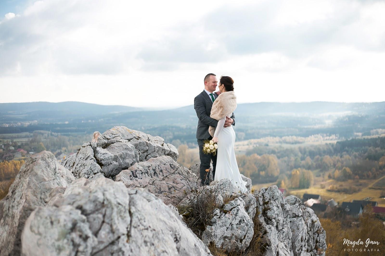 fotograf ślubny opoczno, fotograf opoczno, plener ślubny na górze miedziance, góra miedzianka, plener świętokrzyskie, magda gmur fotografia