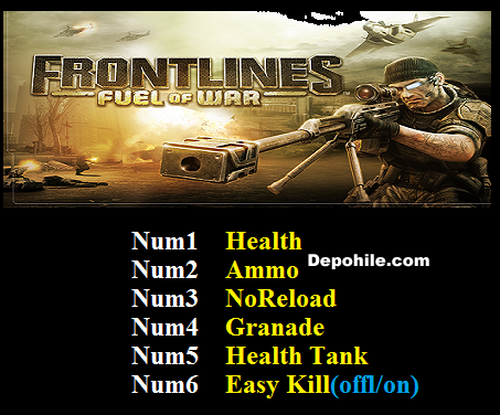 Frontlines Fuel of War (PC) Trainer Can - Bomba +6 Trainer Hilesi