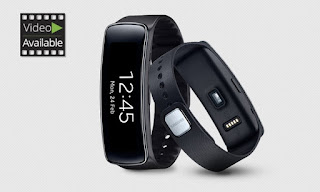 BEST DiSCOUNT 60% Samsung Gear Fit W/HR Monitor in Black at groupon