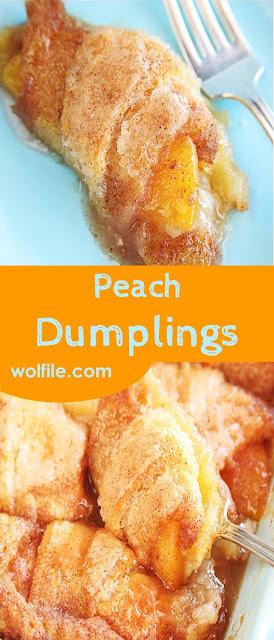 Peach Dumplings Recipe #Peach #Dumpling
