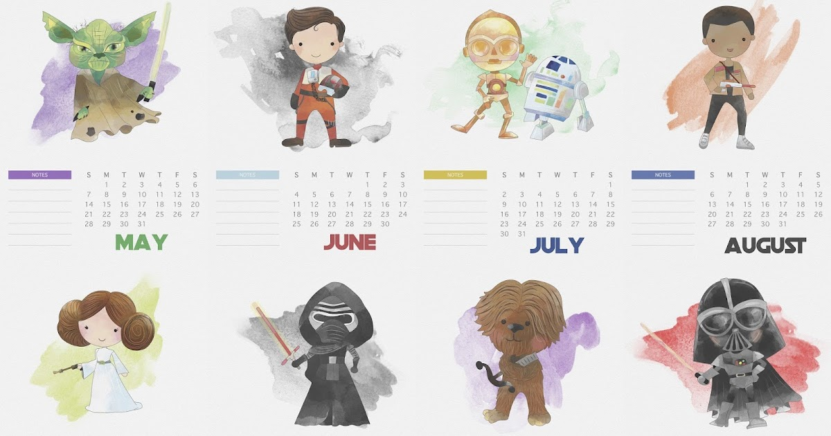 Free Printable 2017 Star Wars Calendar. - Oh My Fiesta ...