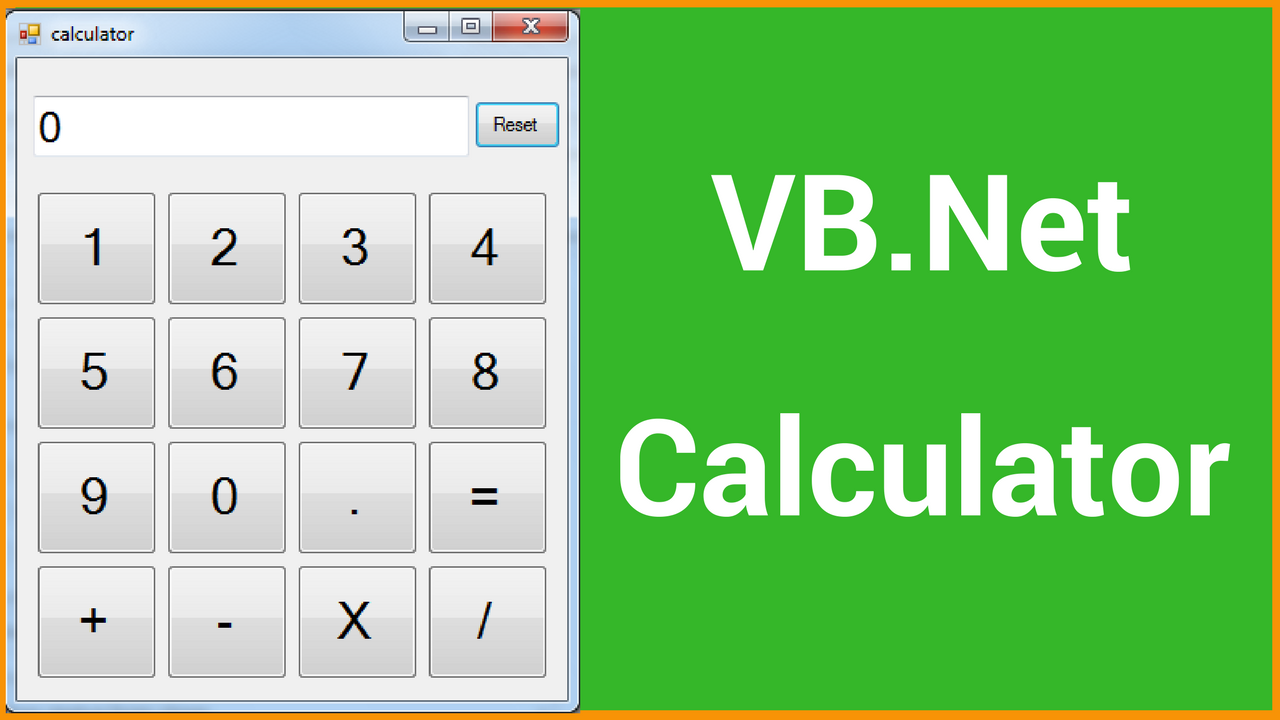 VB NET Calculator Source Code - C#, JAVA,PHP, Programming ,Source Code