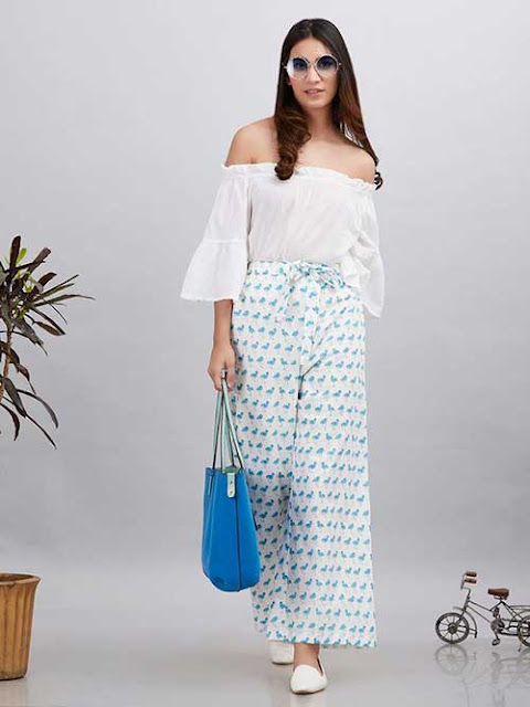 Palazzo With Off-Shoulder