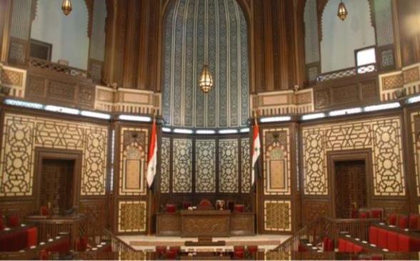 بالتزكية, إعادة انتخاب حموده صباغ رئيساً لمجلس الشعب.