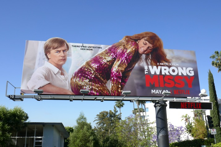 Wrong Missy extension cut-out billboard