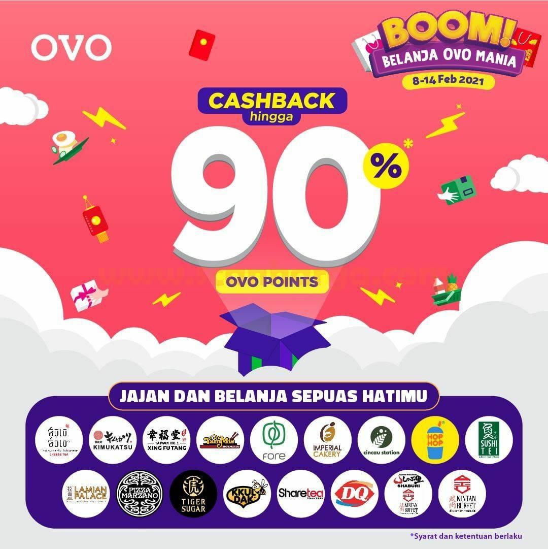 Promo OVO BOOM MANIA - Dapatkan CASHBACK hingga 90%