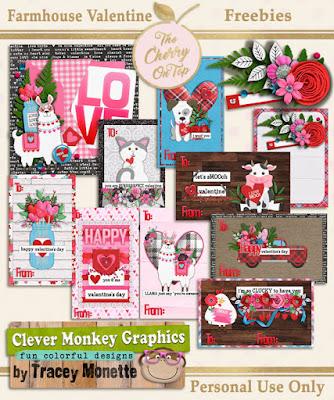Freebies from The Cherry and Clever Monkey Graphics