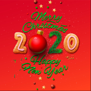 merry christmas and happy new year 2020 animated images