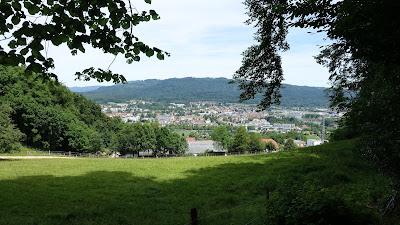 Blick auf Bad Säckingen bei der Abfahrt vom Eikerberg