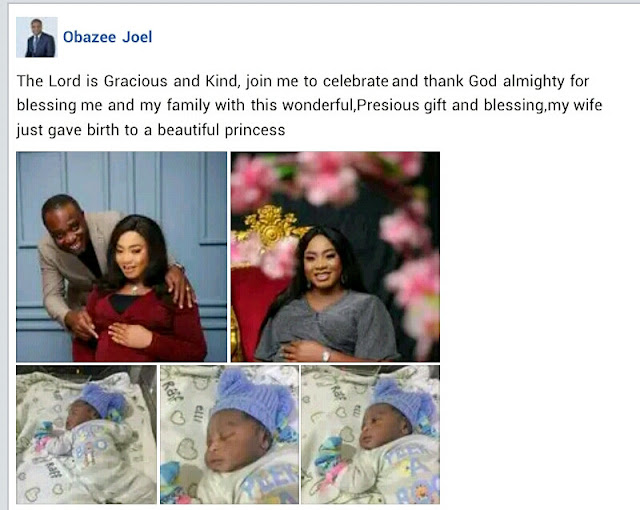Nigerian pastor and his wife welcome a baby girl after 13 years of waiting (Photos)