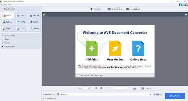 برنامج AVS Document Converter