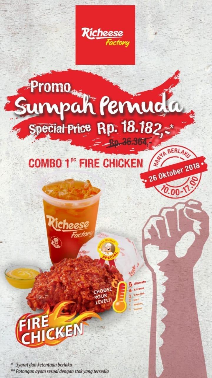 RicheeseFactory - Promo Sumpah Pemuda Combo 1PC Fire Chicken 18 Ribuan (HARI INI)