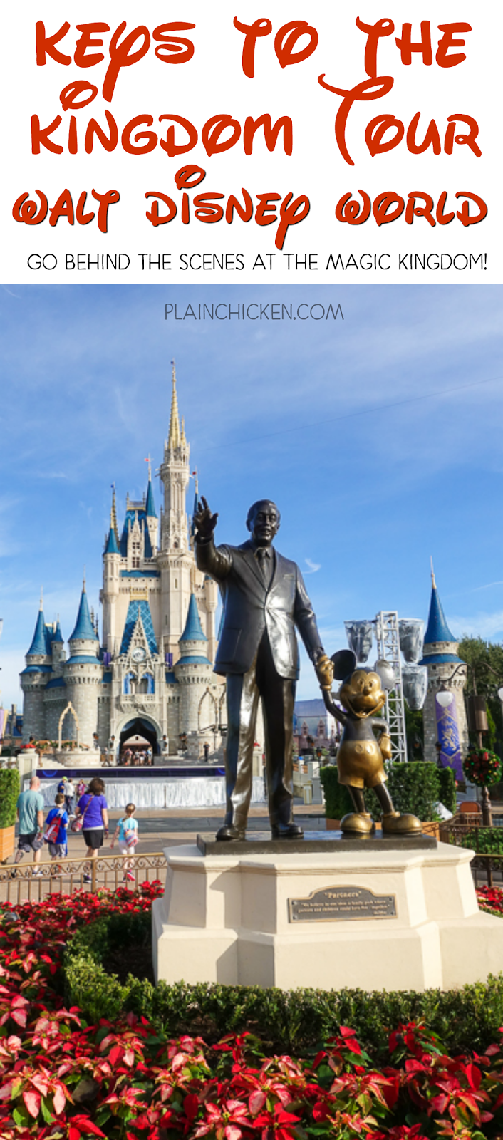 Keys to the Kingdom Tour - Walt Disney World - behind the scenes at The Magic Kingdom at Walt Disney World. Learn fun tidbits about the park and Walt Disney and go in the TUNNELS under the park! The highlight of our trip!
