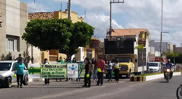 APDC realiza sua 1ª Marcha de luta pela inclusão da pessoa com deficiência em Caraúbas