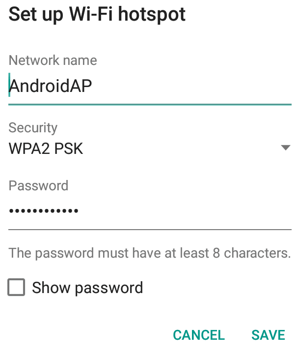 Wi-Fi Username and Password