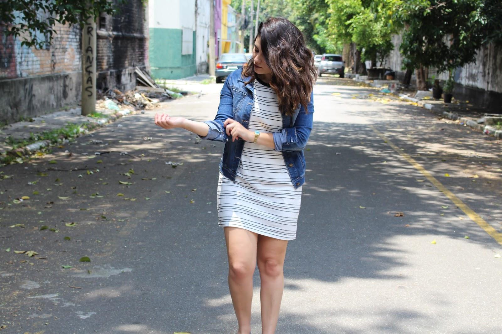 Ana do dia look do dia de keds tênis florido vestido camiseta forever 21 jaqueta jeans