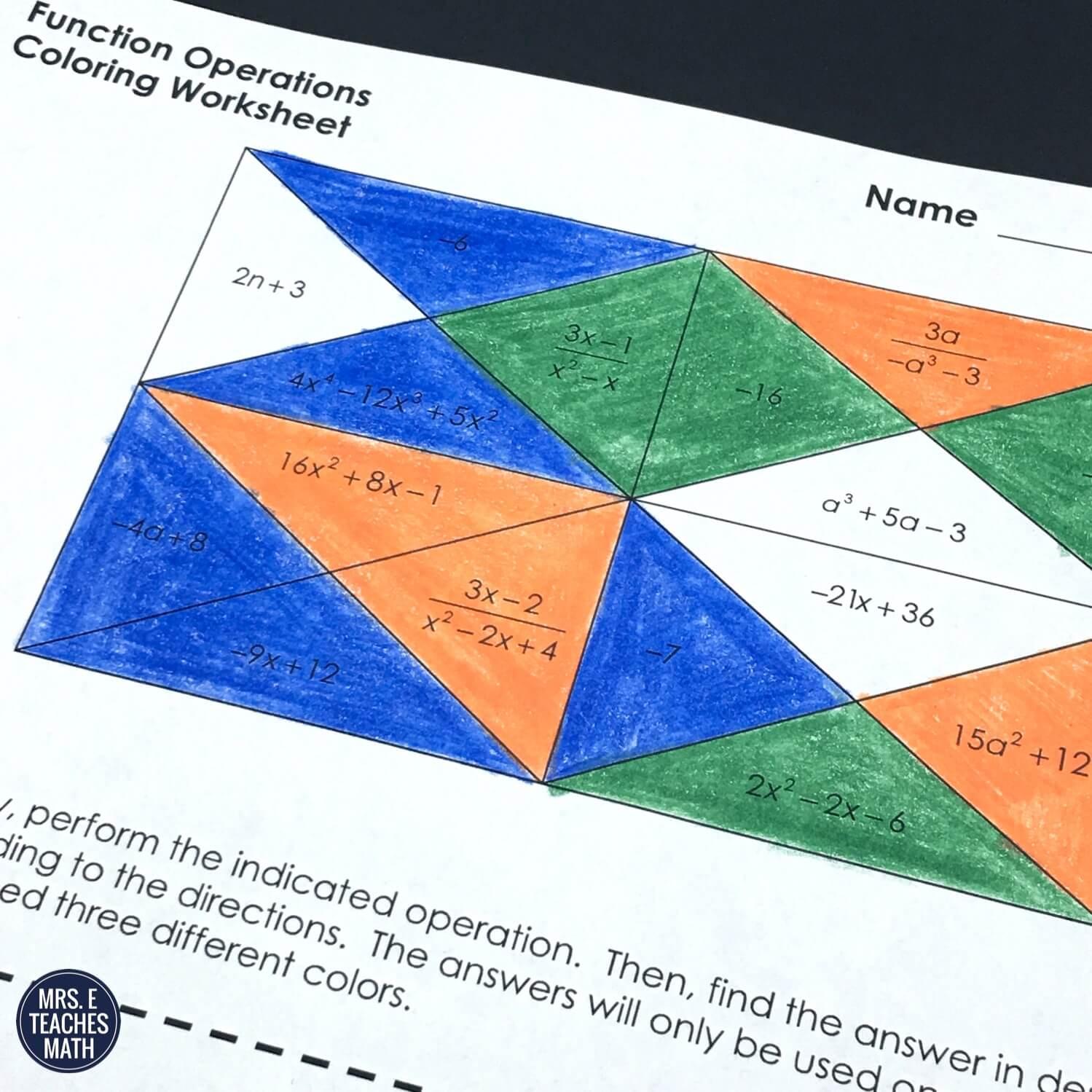 8 Ideas for Teaching Function Notation   Mrs. E Teaches Math [ 1499 x 1499 Pixel ]