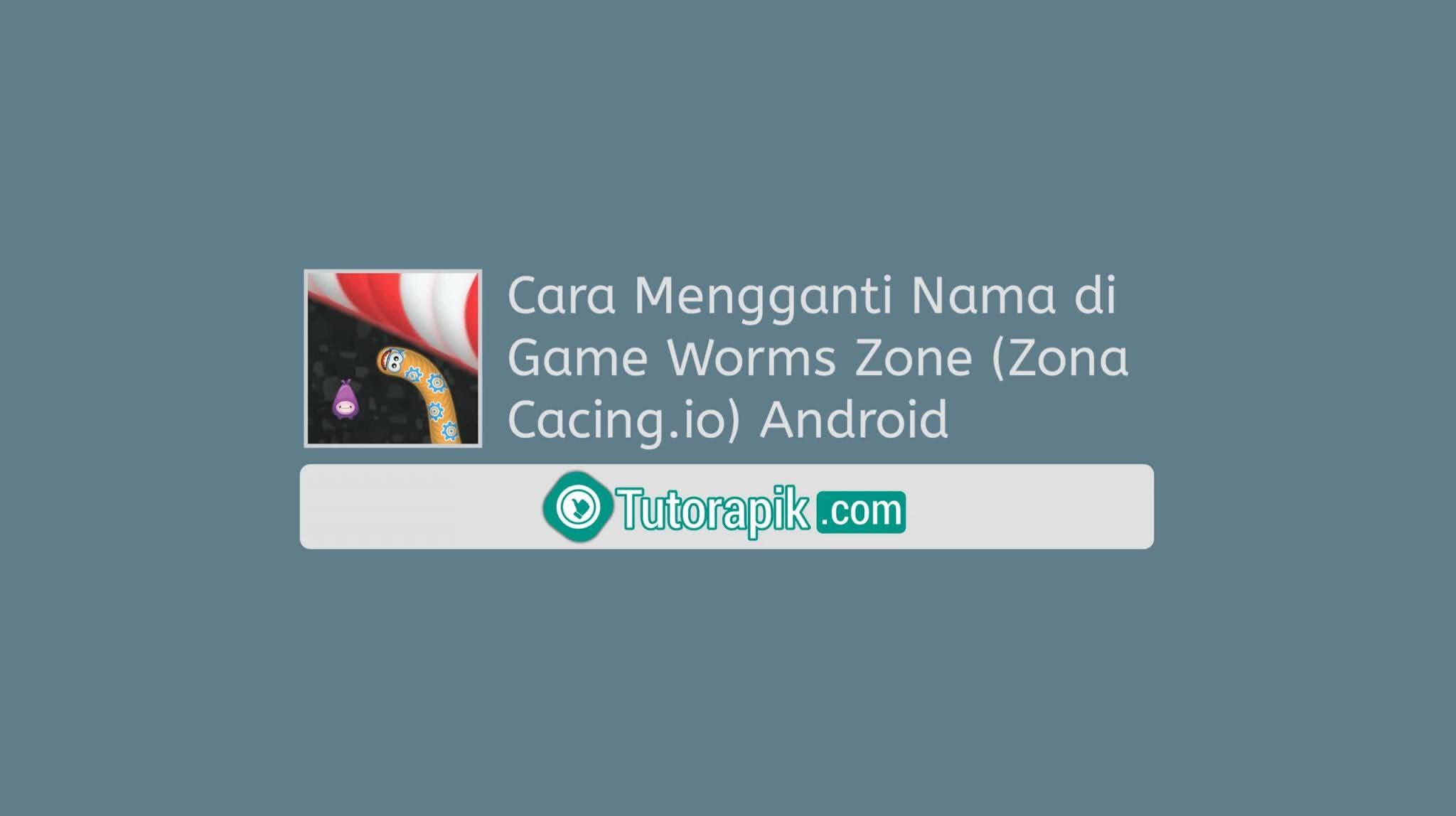 Cara Mengganti Nama di Game Worms Zone (Zona Cacing.io) Android