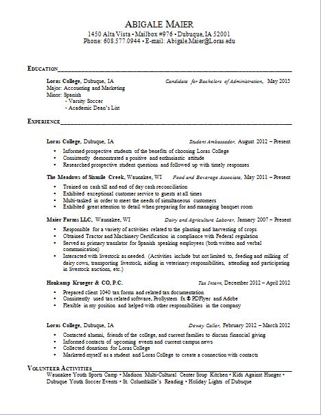 life in the big city  initial cover letter  initial resume  job description