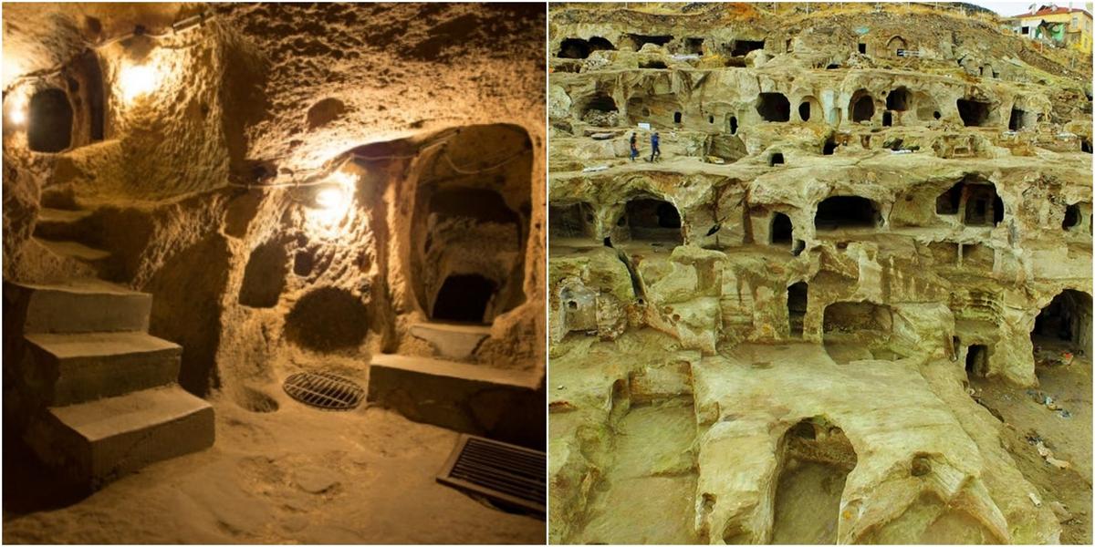 Turkey, Underground City, Derinkuyu