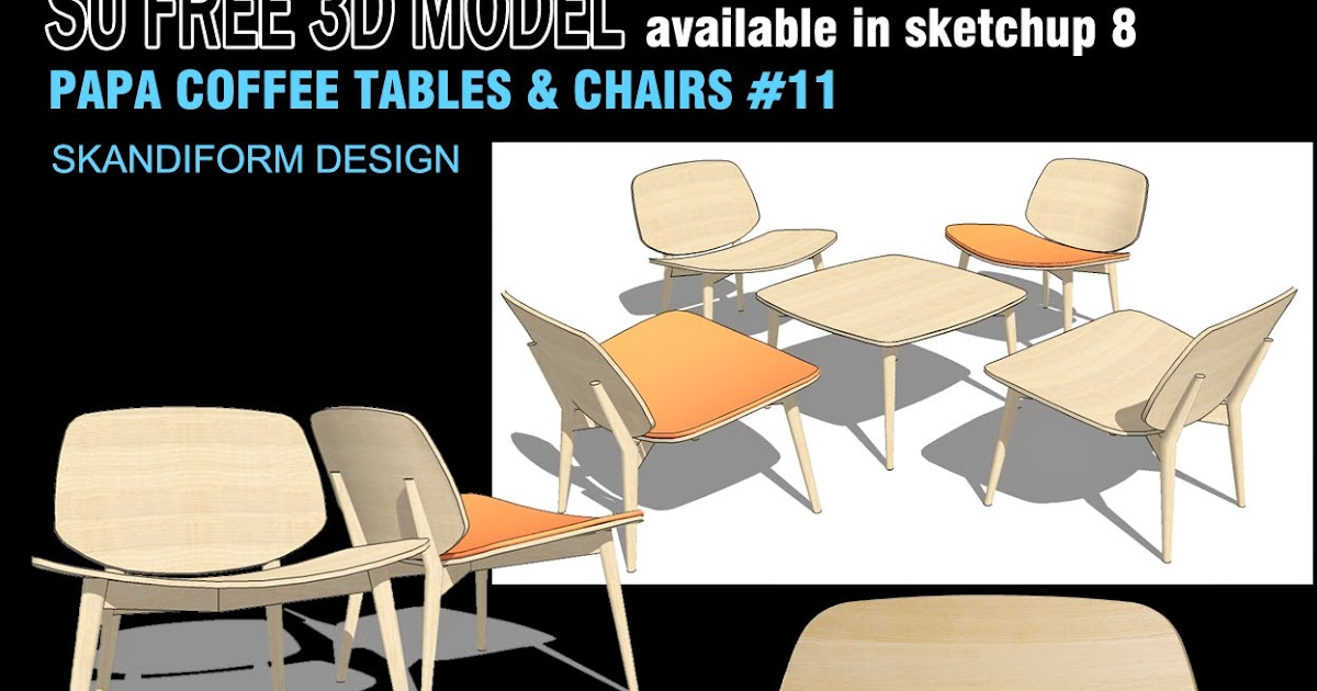 chair design sketchup affordable dining room chairs texture free 3d models coffee tables and 11