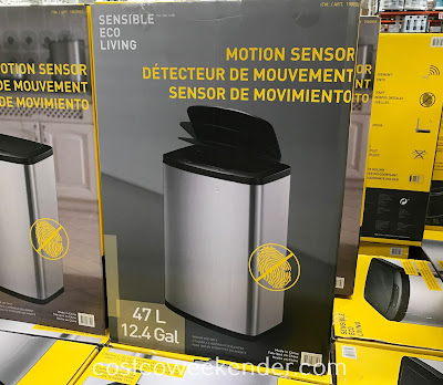 Enjoy a touchless experience with the Eko Motion Sensor Trash Can