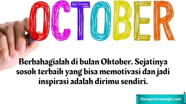 Quotes Bulan Oktober Penuh Motivasi dan Inspirasi
