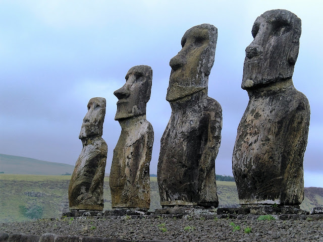 Easter Island, Mysterious, Stone, Statues,