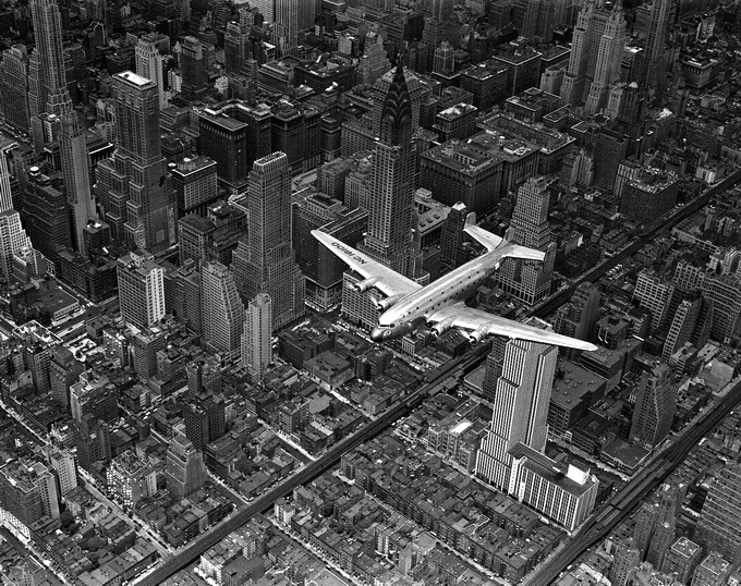 Margaret Bourke-White's Airplane over New York City