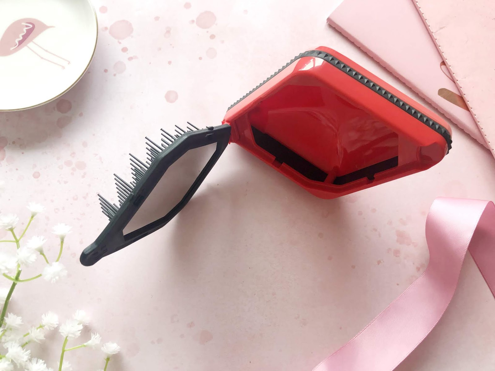 Hair Podz Diamond Edition 2 in 1 Brush and Mirror