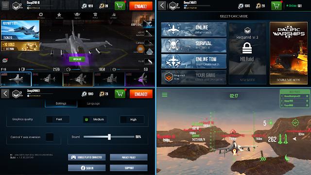 Total Size Game Modern Warplanes Android - Game Pesawat Jet Tempur