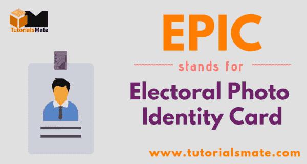 EPIC Full Form