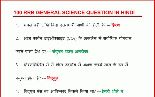 General Science (सामान्य विज्ञान) Notes in Hindi- Free
