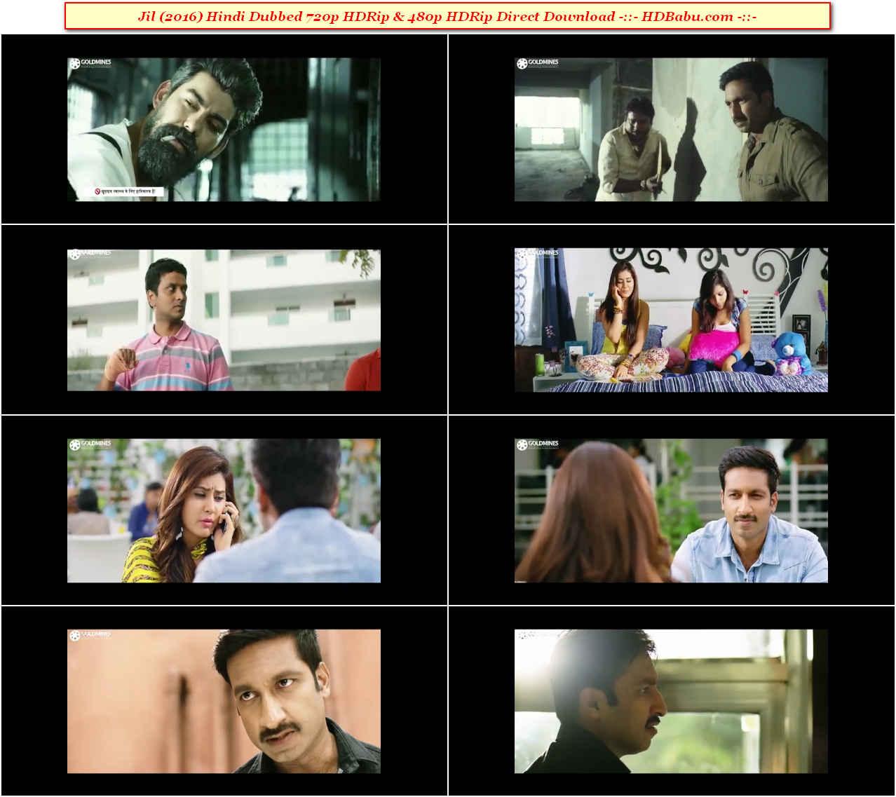 Jil Hindi Dubbed Full Movie Download