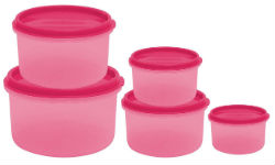 Princeware SF Round Package Container Set 5-Pieces For Rs 85 Free Ship at Amazon