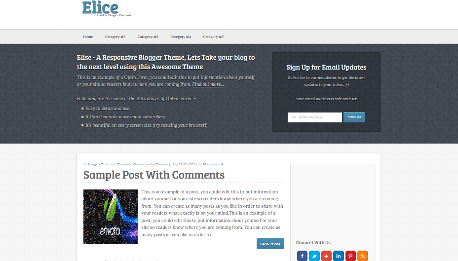 Elice Blogger Template - Adsense Friendly Blogger Template