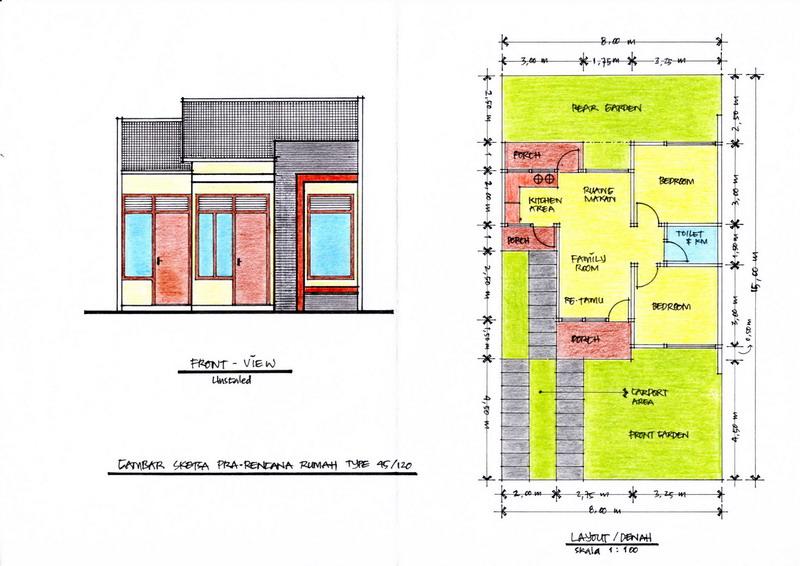 Rumah siap bangun | desain rumah minimalis 2 lantai  lahan 8