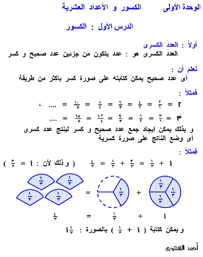 ملزمة رياضيات للصف الرابع الإبتدائي الترم الثاني لعام 2022