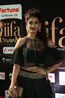 Ritika Singh in a Ethnic Deep Neck Dark Green Choli Ghagra at IIFA Utsavam Awards March 2017 ~ 027.JPG