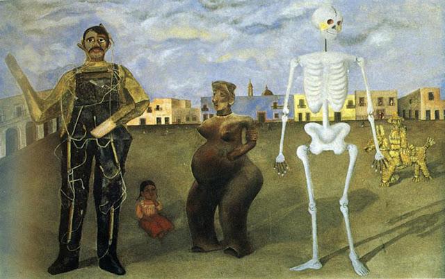 Фрида Кало - Четыре обитателя Мехико. 1938