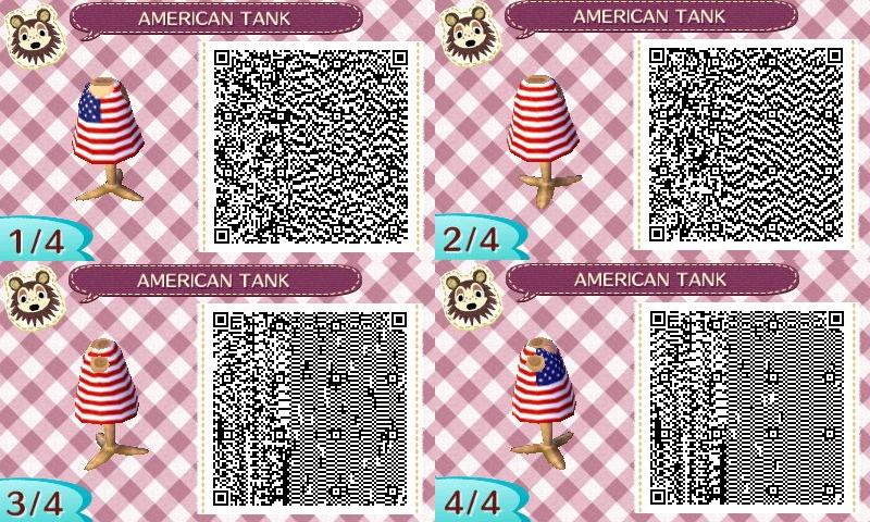 Animal Crossing New Leaf Qr Codes American Flag Sleeveless