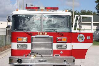 jacksonville beach fire truck