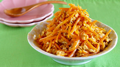 Ninjin Shirishiri (Stir-fried Carrot Strips)